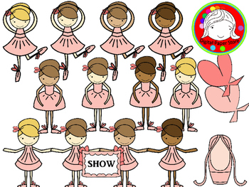 Ballerina Clipart (Personal & Commercial Use)