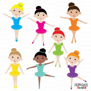 Ballerina Clipart Set, Ballerina Shoes, Ballet Graphics, Ballet Slippers