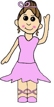Ballerina Dancers Clipart