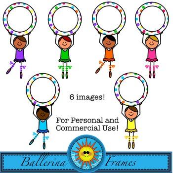 Ballerina Kids Frames Clip Art