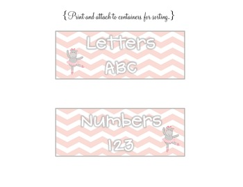 Ballerina Letter or Number Sort