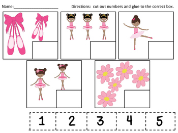 Ballerina Numeral-Quantity Matching Set 1