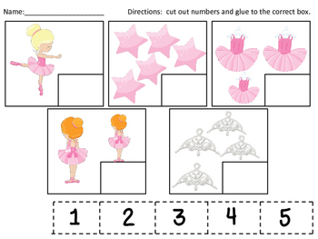 Ballerina Numeral-Quantity Matching Set 2