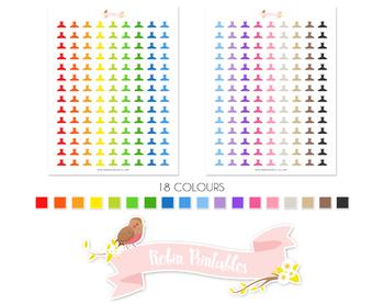 Ballerina Tutu Dress Printable Planner Stickers