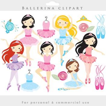 Ballerina clipart - ballerina clip art girl ballet dancing dresses ballet shoes