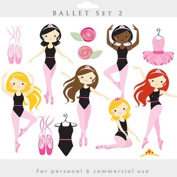 Ballerina clipart - clip art girl ballet dancing dance dresses ballet shoes