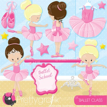 Ballerina clipart commercial use, graphics, digital clip art, fair - CL895