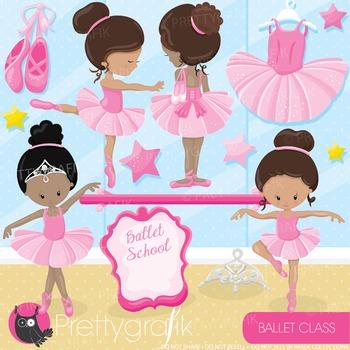 Ballerina clipart commercial use, graphics, digital clip art, fair - CL896