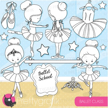Ballerina stamps commercial use, vector graphics, images - DS895