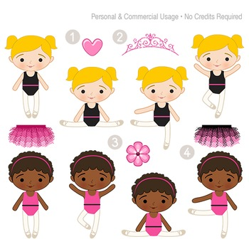 Ballerinas Clip Art and Digital Papers