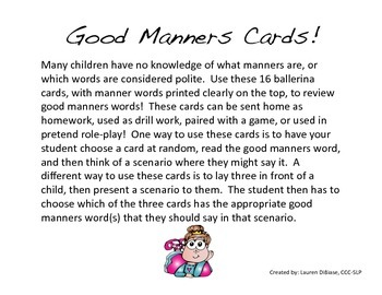 Manners for Little Girls!