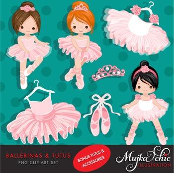 Ballerinas and Pink Tutu Clipart by MUJKA