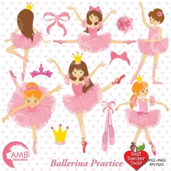 Ballet Clipart, Ballerinas, Ballet dancer {Best Teacher Tools} AMB-232