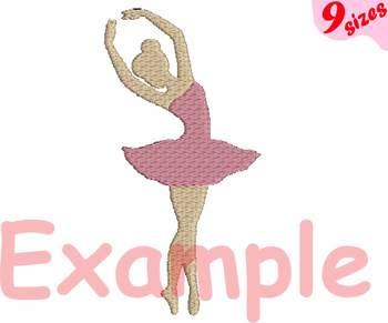 Ballet Ballerina Embroidery Design digital 4x4 5x7 hoop Stiches dance 127b