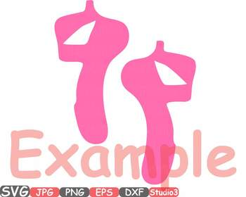 Ballet Ballerina dance slippers clipart Shoe Shoes studio svg Legs clip art 33sv