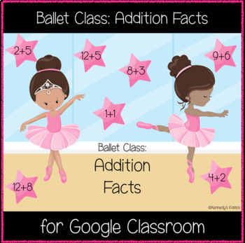 Ballet Class: Addition Facts (Great for Google Classroom!)
