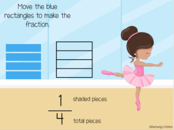 Ballet Class: Equal Parts and Fractions (Great for Google Classroom!)