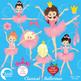 Ballet Clipart, Ballerina Clipart, Pink Ballet Clip Art, AMB-1050