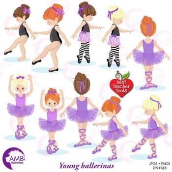 Ballet Clipart, Purple Ballerinas, Ballet Recital, {Best Teacher Tools} AMB-1947
