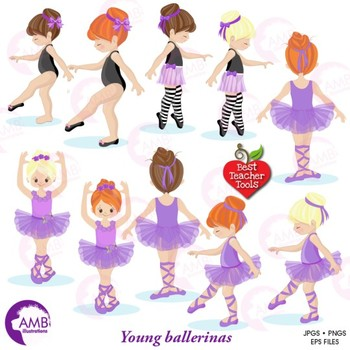 Ballet Clipart, Purple Ballerinas, Ballet Recital, {Best Teacher Tools} AMB-1327