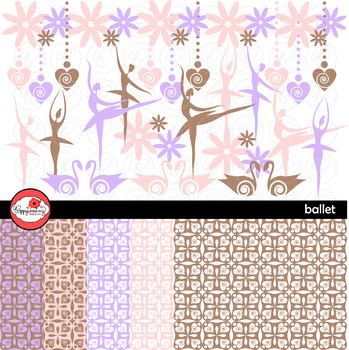 Ballet Clipart and  Digital Paper Set by Poppydreamz