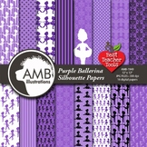 Ballet Digital Papers, Ballerina Silhouettes, {Best Teacher Tools} AMB-1949
