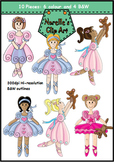 Ballet Girls Clip Art Set. Dance Kids. 10 Pieces.