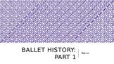 Ballet History--Origins to the Renaissance Lesson Plan