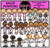 Ballet Positions Clip Art Bundle {Educlips Clipart}