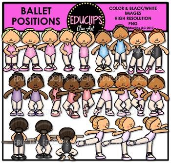 Ballet Positions Clip Art Bundle {Educlips Clipart}