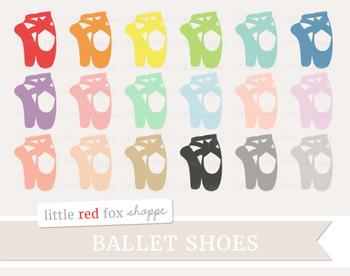 Ballet Shoe Clipart; Dance, Dancing, Slipper
