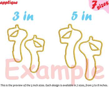 Ballet Shoes Applique Designs for Embroidery Machine Ballerina Shoes pink 7a