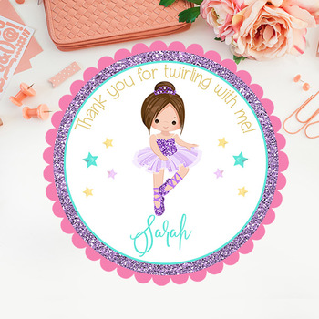 Ballet Stickers/Tags/Cupcake Toppers/Labels