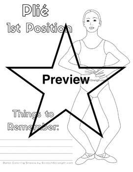 Ballet Technique Coloring Pages Vol. 1 - ´Epaulement and basic steps