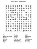 Ballet Terms Word Search