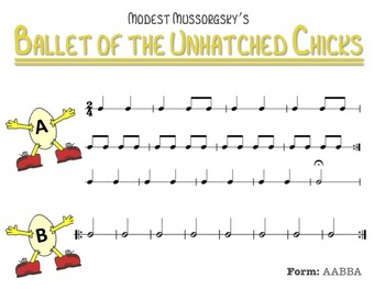 """""""Ballet of the Unhatched Chicks"""" Listening Map"""
