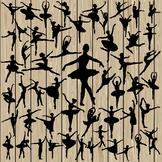50 Ballet silhouette, SVG, DXF, PNG, EPS, Vector, ballerin