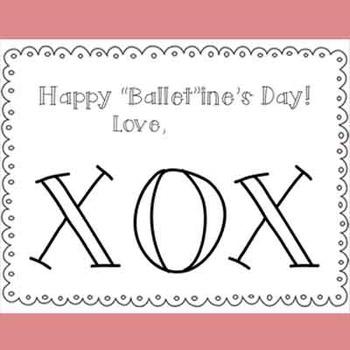 """""""Ballet""""ine Card (Ballet Valentine Card or Ballerina Valentine Card)"""
