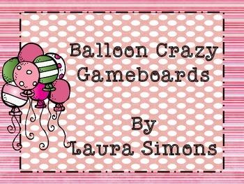 Balloon Gameboard Sample Freebie