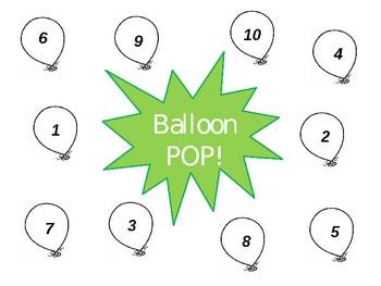 Ballon Pop Addition Game {FREEBIE}
