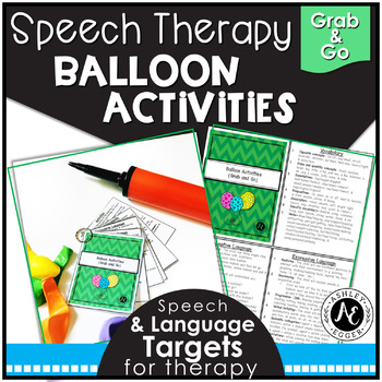 Speech Therapy Balloon Activities Grab-and-Go