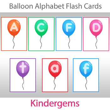 Balloon Alphabet Flash Cards