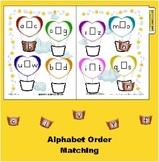 Balloon Alphabetical Order Matching Folder Game- Life Skills Autism Kindergarten