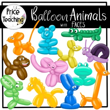 Balloon Animal Clipart Set