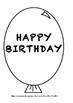 Balloon Birthday Calander Display