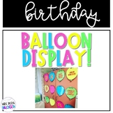 Balloon Birthday Display