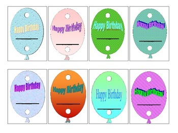 Balloon Birthday Pencil Toppers