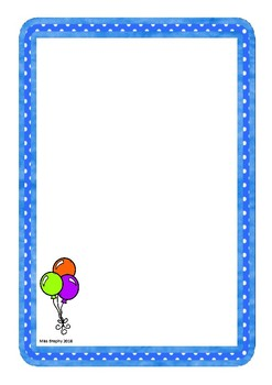 Balloon Worksheets Colour