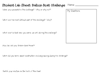 Balloon Boats: Engineering Challenge Project ~ Great STEM Activity!