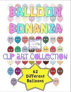 Balloon Bonanza Clip Art Collection